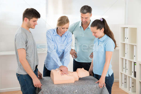 Students Learning Cardiopulmonary Resuscitation Stock photo © AndreyPopov