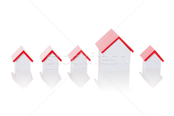 House Model Arranged In Row Stock photo © AndreyPopov
