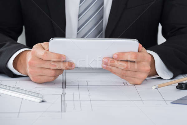 Male Architecture Using Digital Tablet Stock photo © AndreyPopov