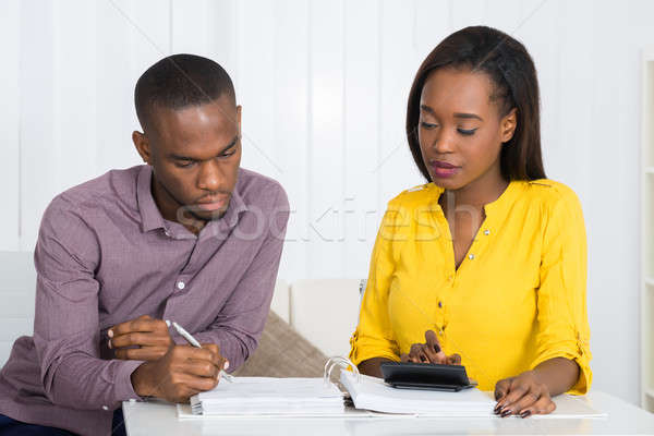 Couple Calculating Bill Stock photo © AndreyPopov