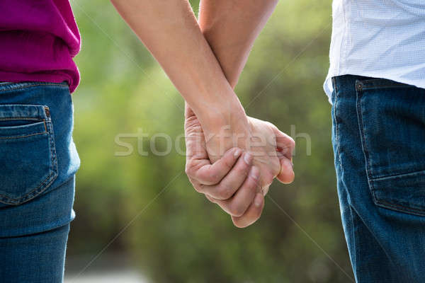 Couple Holding Hands Stock photo © AndreyPopov