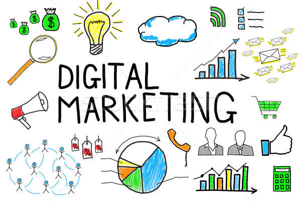 Illustrative Diagram Of Digital Marketing Stock photo © AndreyPopov