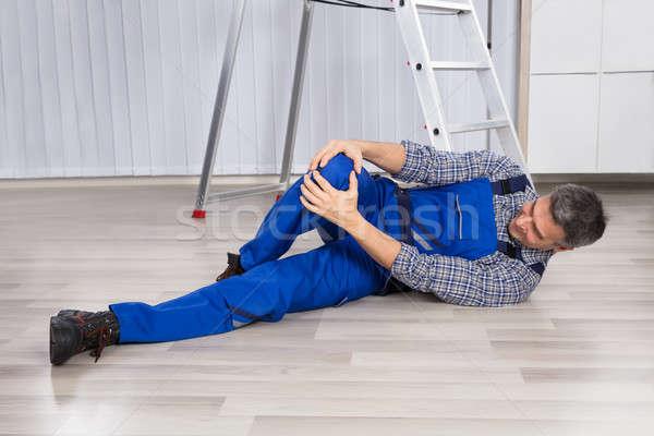 раненый человека ногу более Сток-фото © AndreyPopov
