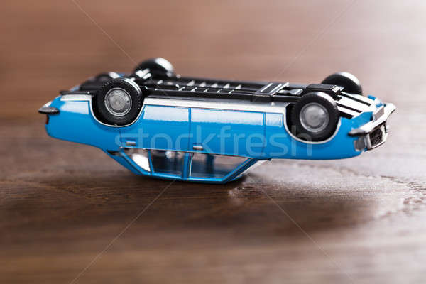 Toy Car On Wooden Desk Stock photo © AndreyPopov