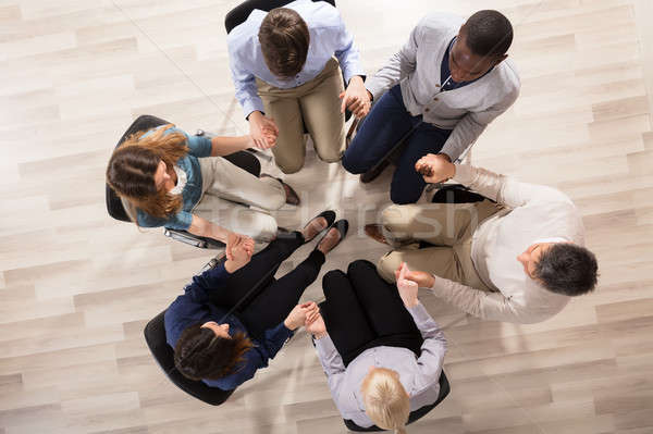 Overhead View Of People Supporting Each Other Stock photo © AndreyPopov
