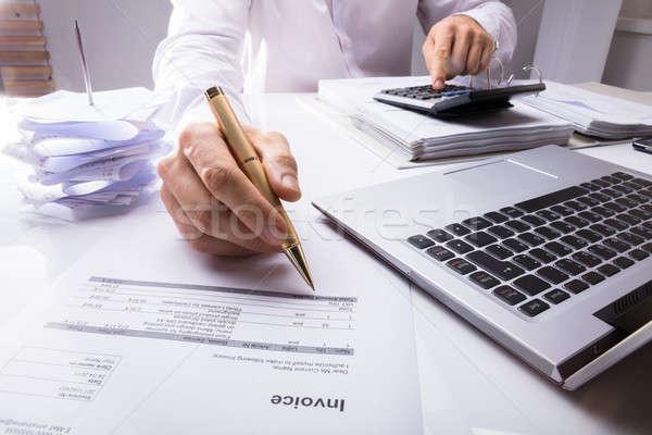 会計士 電卓 ペン クローズアップ オフィス ストックフォト © AndreyPopov