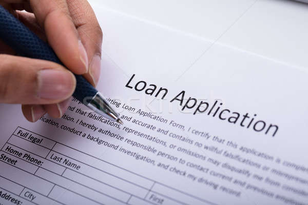 Person Filling Loan Application Form Stock photo © AndreyPopov
