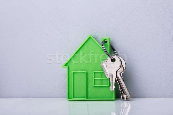 üvegház kulcsok közelkép fehér fal biztonság Stock fotó © AndreyPopov