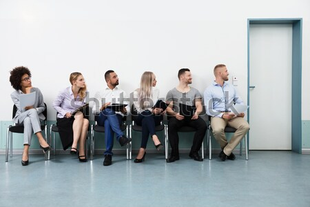 Job Applicants Sitting On Chair Stock photo © AndreyPopov