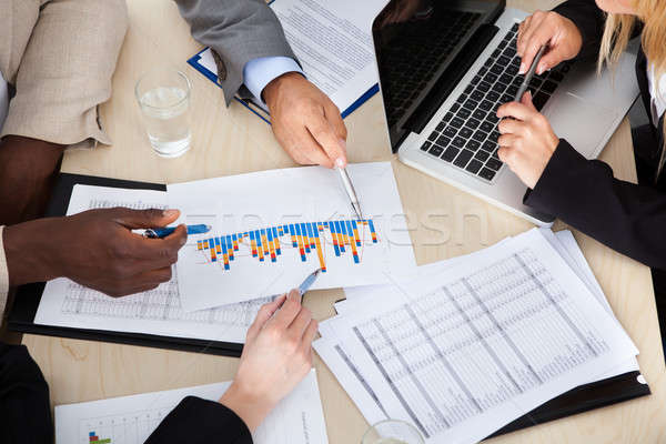 Group Of Multi Ethnic Businesspeople Discussing Stock photo © AndreyPopov