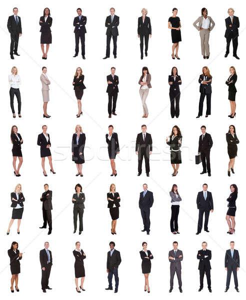группа деловые люди Постоянный белый женщину Сток-фото © AndreyPopov