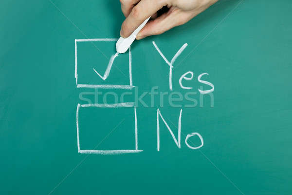 Making a choice Stock photo © AndreyPopov