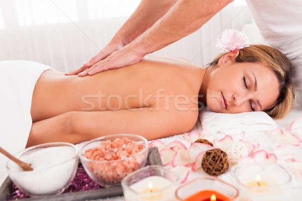 Cliente relaxante massagem estância termal mãos esportes Foto stock © AndreyPopov