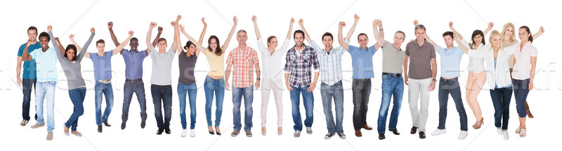 Diverse People In Casuals Celebrating Success Stock photo © AndreyPopov