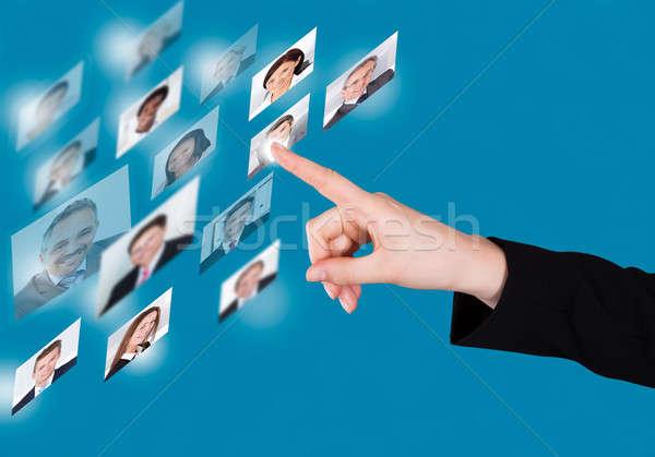 üzletasszony kiválaszt jelölt digitális interfész kép Stock fotó © AndreyPopov