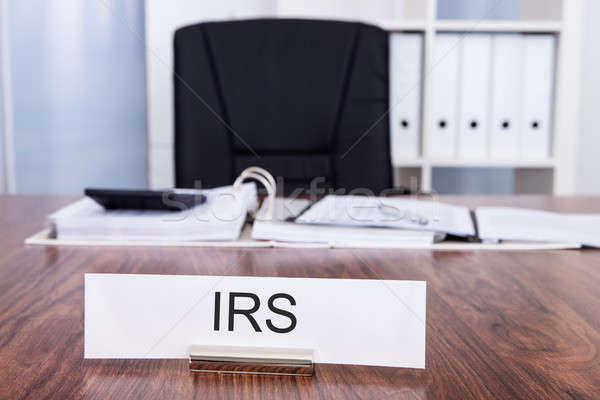 Adóhatóság iroda irodai asztal szék üzlet papír Stock fotó © AndreyPopov