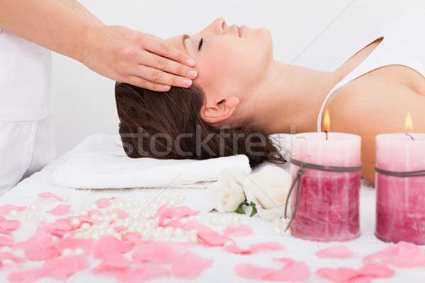 Mujer masaje tratamiento médicos Foto stock © AndreyPopov
