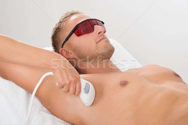 лазерного эпиляция лечение человека здоровья красоту Сток-фото © AndreyPopov