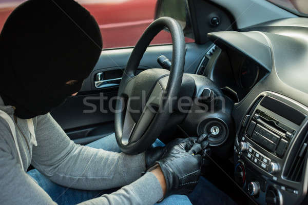 Thief Inserting Tool In Keyhole Stock photo © AndreyPopov