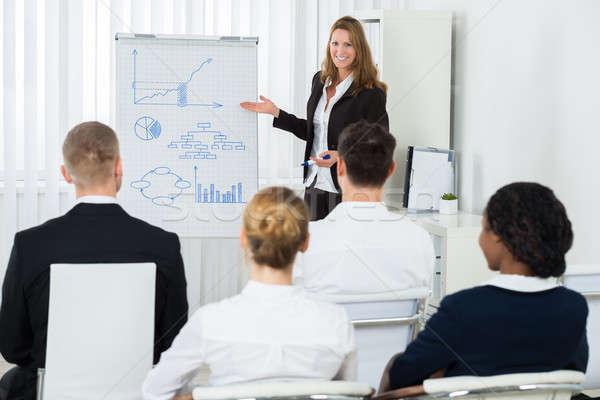 Gerente estratégia de negócios equipe feliz feminino Foto stock © AndreyPopov