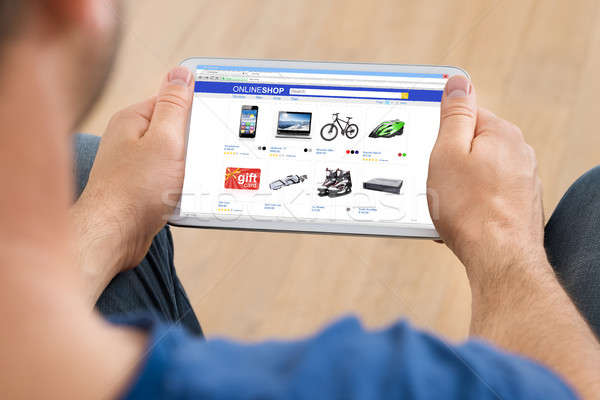 Person Shopping Online On Digital Tablet Stock photo © AndreyPopov