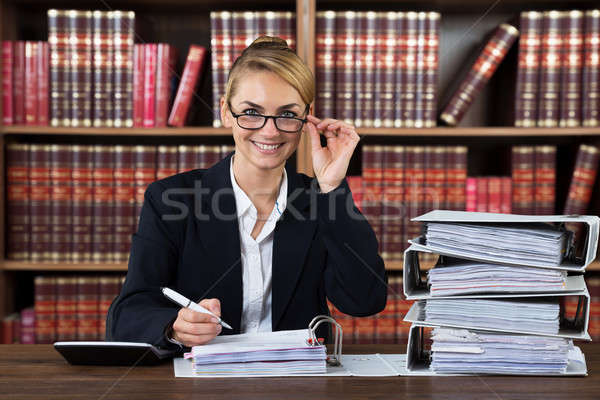 Successful Female Accountant Stock photo © AndreyPopov