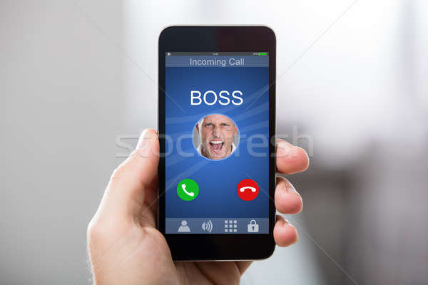 Person Receiving Boss Incoming Call Stock photo © AndreyPopov