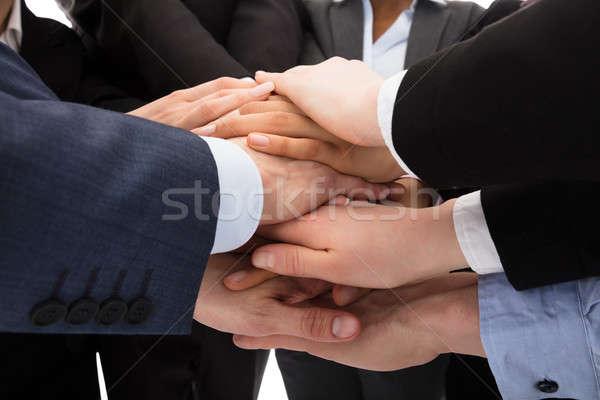 Mãos foto juntos negócio Foto stock © AndreyPopov