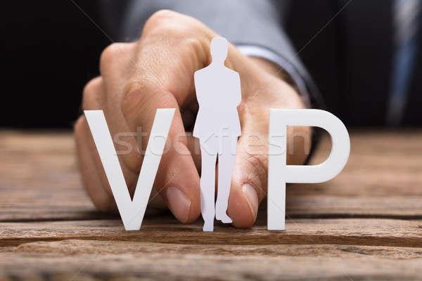 ビジネスマン vip 文字 表 画像 ストックフォト © AndreyPopov