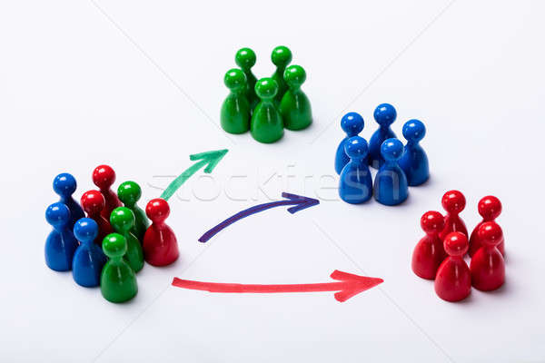 Customers Segmented Into Groups Stock photo © AndreyPopov
