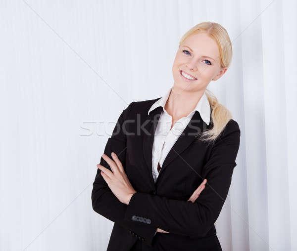 Portre güzel genç işkadını ofis Stok fotoğraf © AndreyPopov