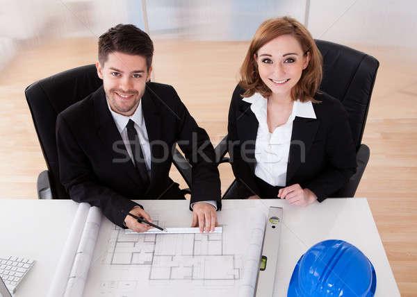 Ritratto due sincero lavoro ufficio business Foto d'archivio © AndreyPopov