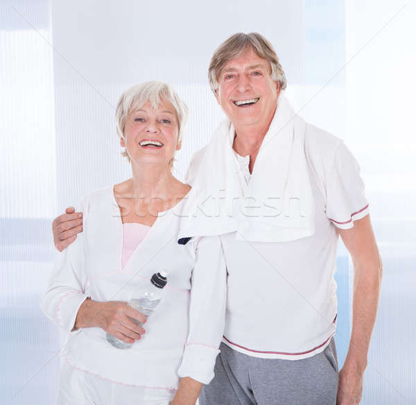 Senior Couple With Towel And Water Bottle Stock photo © AndreyPopov