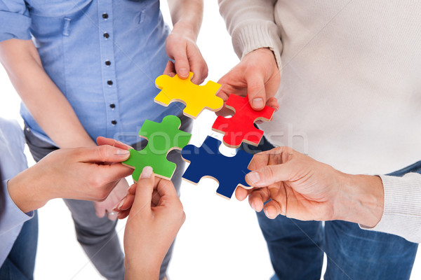 Five People Hand With Puzzle Stock photo © AndreyPopov