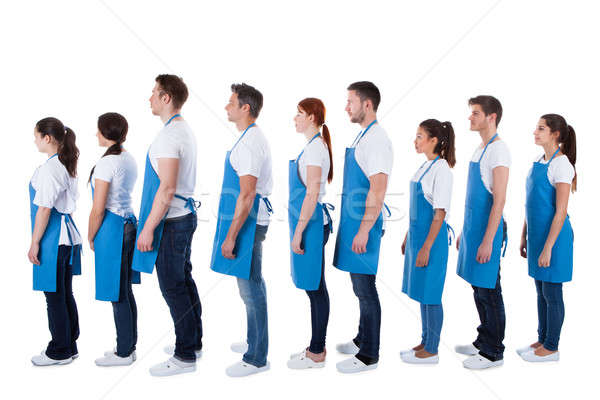 Large group of cleaners standing in a queue Stock photo © AndreyPopov