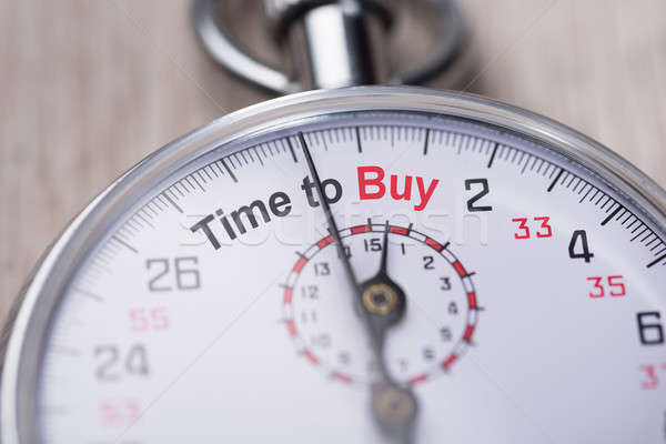 Stopwatch Showing Time To Buy Stock photo © AndreyPopov