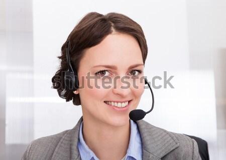 Female Operator With Headset Stock photo © AndreyPopov