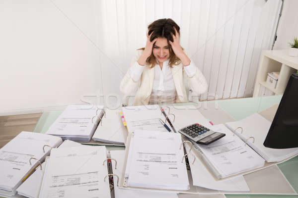 Frustrated Businesswoman Stock photo © AndreyPopov