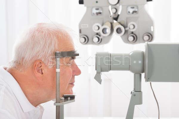 男 視力 クリニック クローズアップ シニア 笑顔 ストックフォト © AndreyPopov