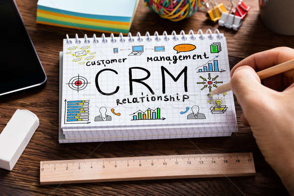 Customer Relationship Concept Drawn On Notebook Stock photo © AndreyPopov