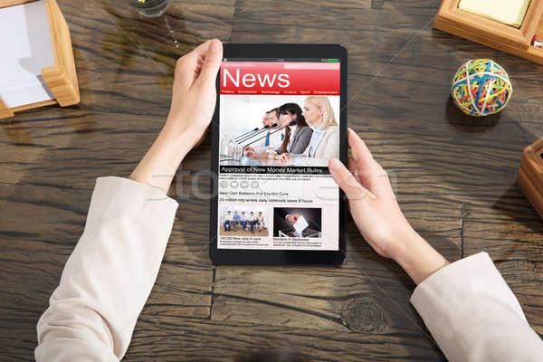 чтение скандал Новости женщину Сток-фото © AndreyPopov