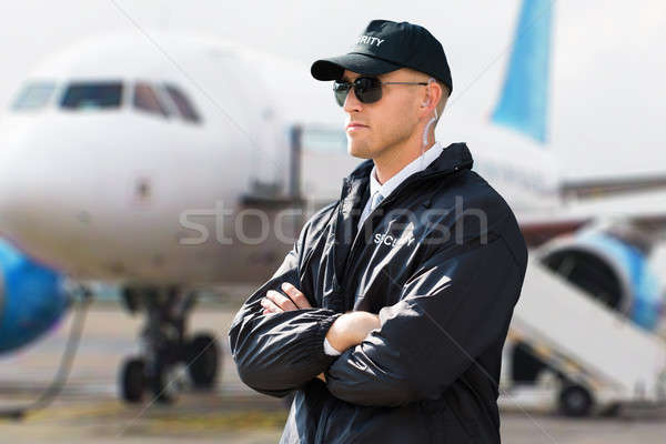 Close-up Of A Young Male Security Guard Stock photo © AndreyPopov