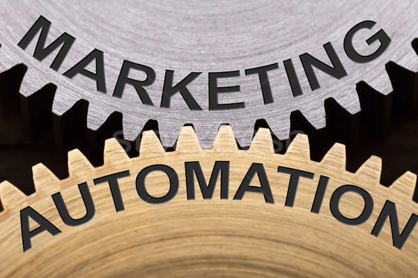 Marketing Automation Concept On Interlocked Cogwheels Stock photo © AndreyPopov