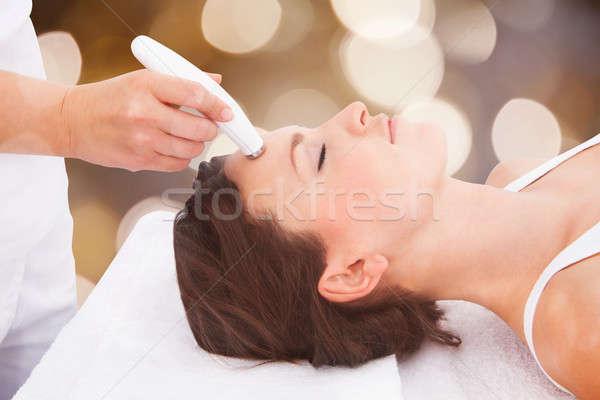 女性 療法 額 クローズアップ 若い女性 ストックフォト © AndreyPopov