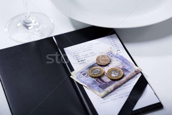 Livre Bill dossier paiement table Photo stock © AndreyPopov