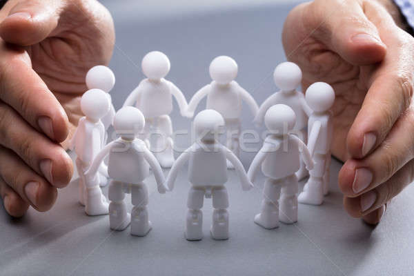 El minyatür insan iş Stok fotoğraf © AndreyPopov