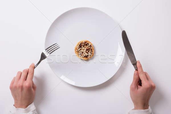 Hand frische Lebensmittel Platte Ansicht weiß Frau Stock foto © AndreyPopov