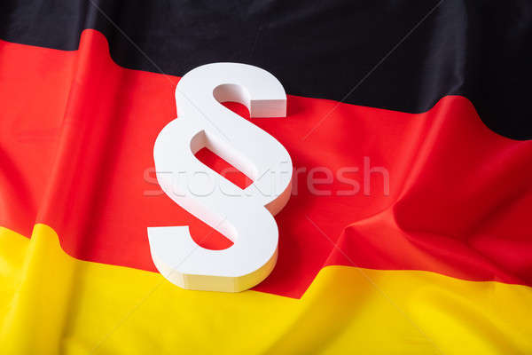 Elevated View Of Paragraph Symbol Stock photo © AndreyPopov