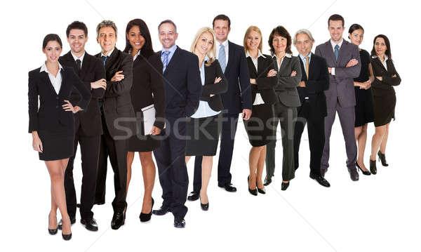 Grupy ludzi biznesu odizolowany biały dziewczyna budynku Zdjęcia stock © AndreyPopov