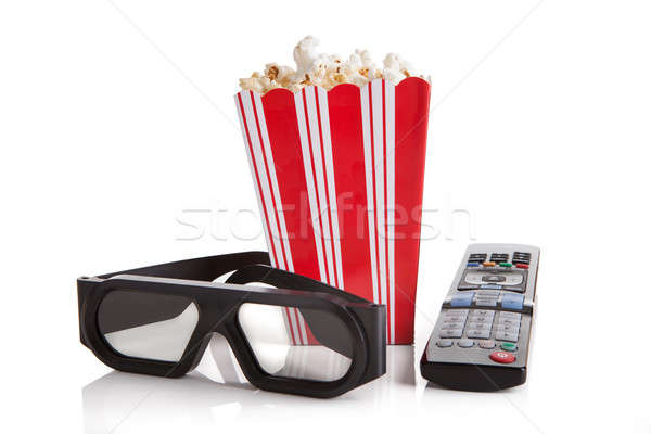 Still Life Of Popcorn And Remote Stock photo © AndreyPopov